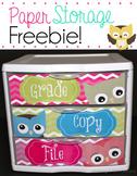 Owl Be Organized Freebie - Owl Themed To Do Drawers