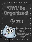 'Owl' Be Organized-SIXTH GRADE Ultimate Teacher Organizer