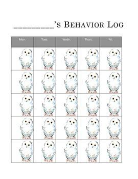 Owl Behavior Calendar Chart