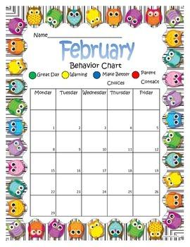Owl Behavior Chart February