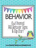 Owl Behavior Clip Chart & PBS Rules