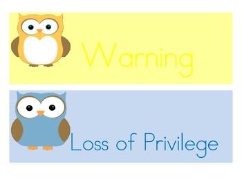 Owl Behavior Clipchart