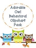 Owl Behavior Clipchart Pack!