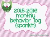Owl Behavior Logs for 2015-2016 in Spanish
