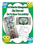 Owl Behavior Management Chart And Get To Know You Activity