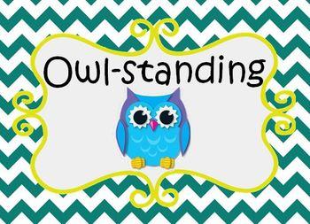 Owl Behavior Management Clip Chart