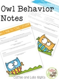 Owl Behavior Notes