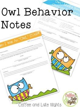 Owl Behavior Notes