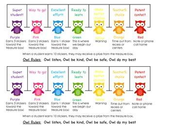Owl Behavior Plan