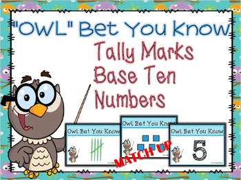 TALLY MARKS and BASE TEN GAME