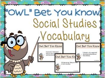 Social Studies Vocabulary Game