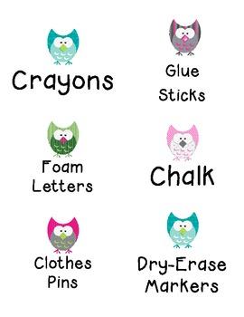 Owl Bin Labels