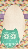 Owl Binder Cover