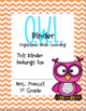 Owl Binder Cover Template