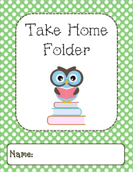 Owl Binder Covers-Green