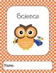 Owl Binder Covers-Orange