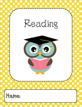 Owl Binder Covers-Yellow