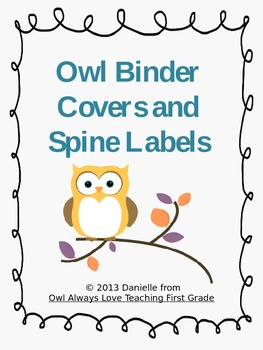 Owl Binder Covers and Spines