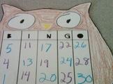 Owl Bingo Cards