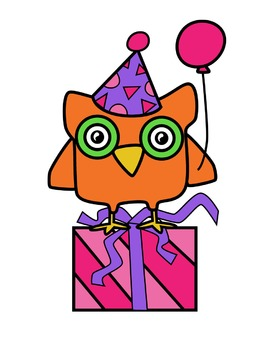 Owl Birthday Clipart