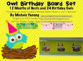 Owl Birthday Board Set