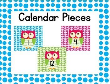 Owl Calendar Pieces