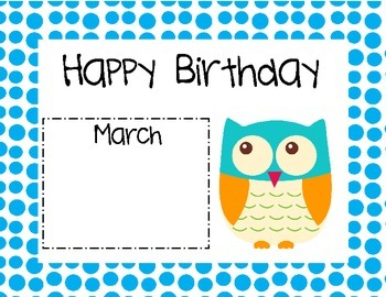 Owl Birthday Calendars