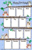 Owl Birthday Chart