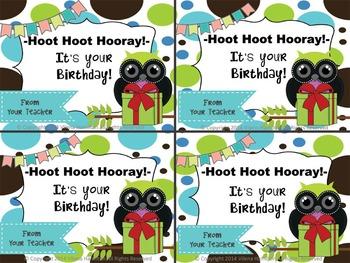 Owl Birthday Display ~Editable~