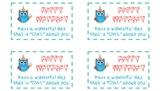 Owl Birthday Goody/Treat Tag