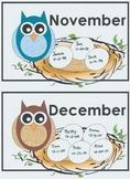 Owl Birthday Nests