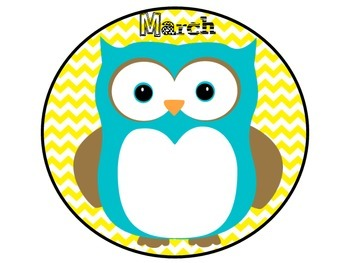 Owl Birthday Posters Pink and Yellow Chevron