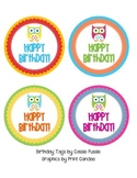 Owl Birthday Tags