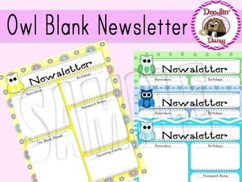 Owl: Blank Newsletter (Add your own text)