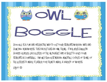 Owl Boggle