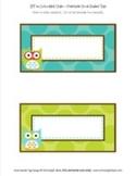 Classroom Decor Owl Book Basket Labels Editable