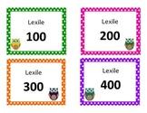Owl Book Bin Labels by Lexile