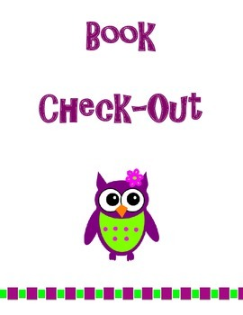 Owl Book Check-Out Sheet