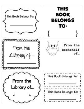 Owl Book Plates