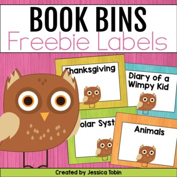 Owl Book Tub Labels