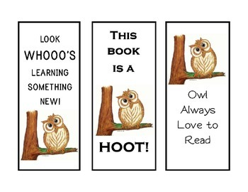 Owl Bookmarks