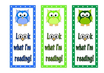 Owl Bookmarks- Look What I'm Reading