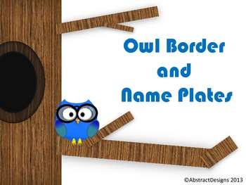 Owl Border and Name Plates