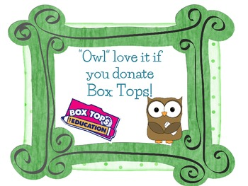 Owl BoxTop Sign Freebie