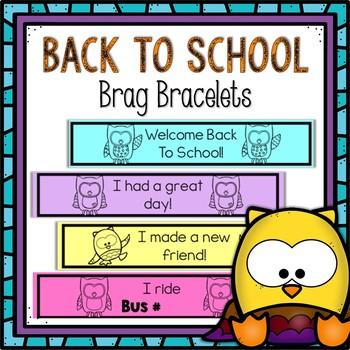 Owl Brag Bracelets for Back to School