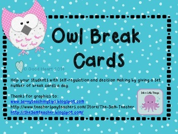 Owl Break Cards