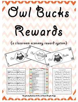 Owl bucks rewards a classroom economy reward system by for Classroom bucks template