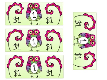 Owl Bucks- cute money for your classroom economy system