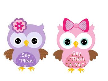 Owl Bulletin Board Cut Outs