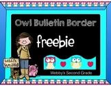 Owl Bulletin Board Freebie